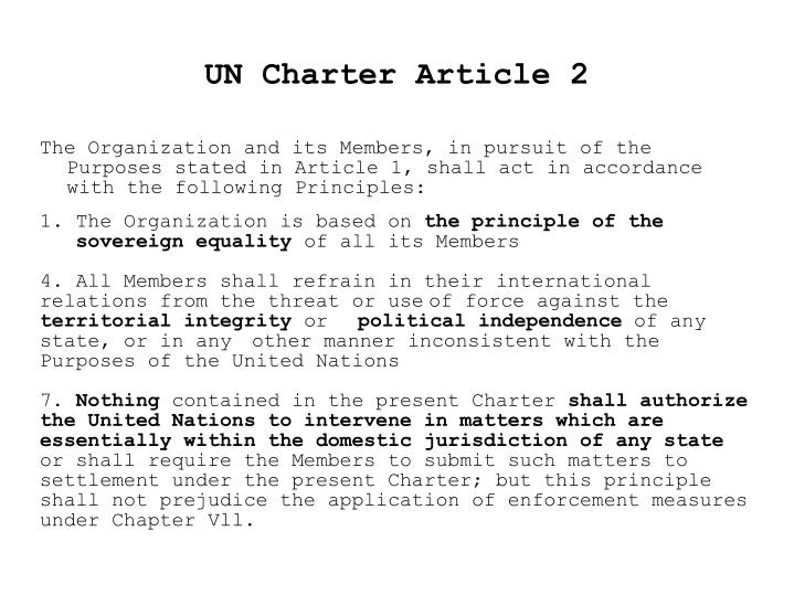 UN Charter Article 2