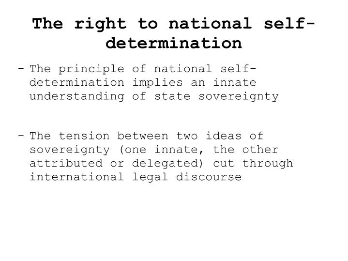 The right to national self-determination