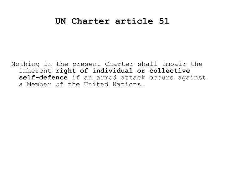 UN Charter article 51