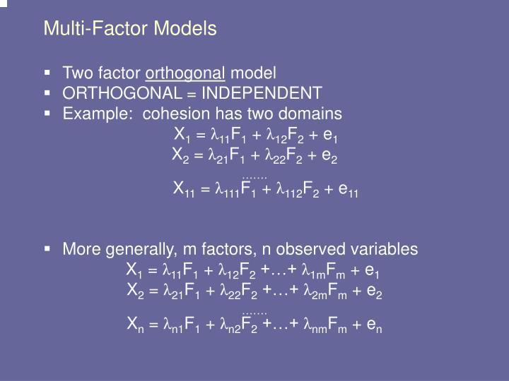 Multi-Factor Models