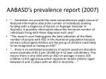 aabasd s prevalence report 2007