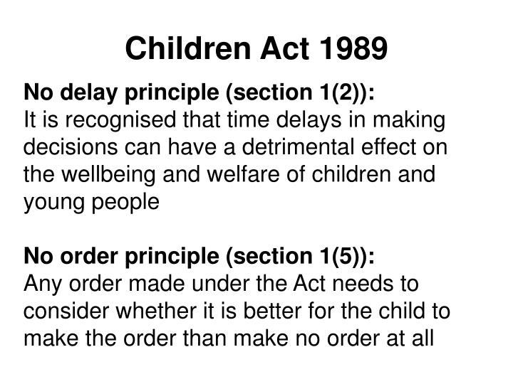 Children Act 1989