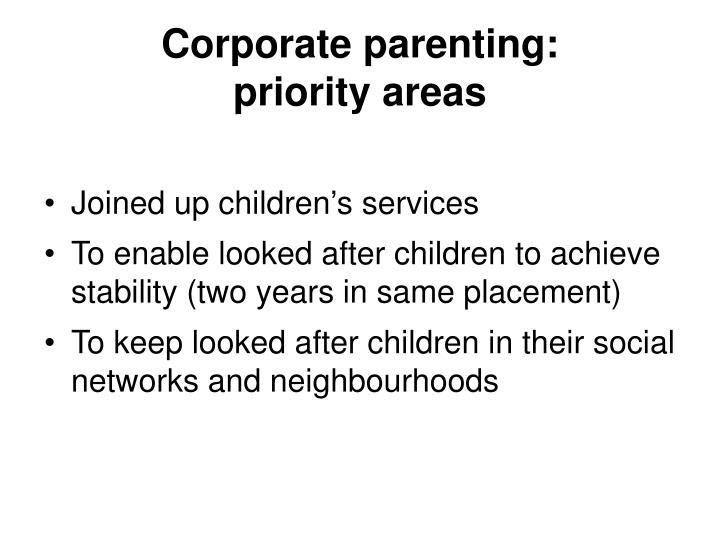 Corporate parenting: