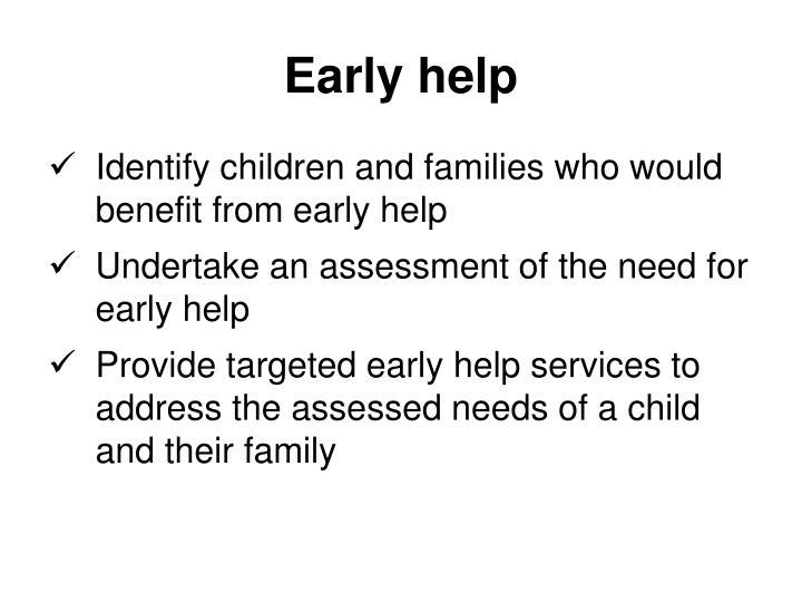 Early help
