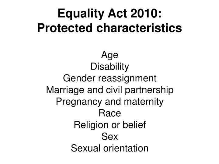 Equality Act 2010: