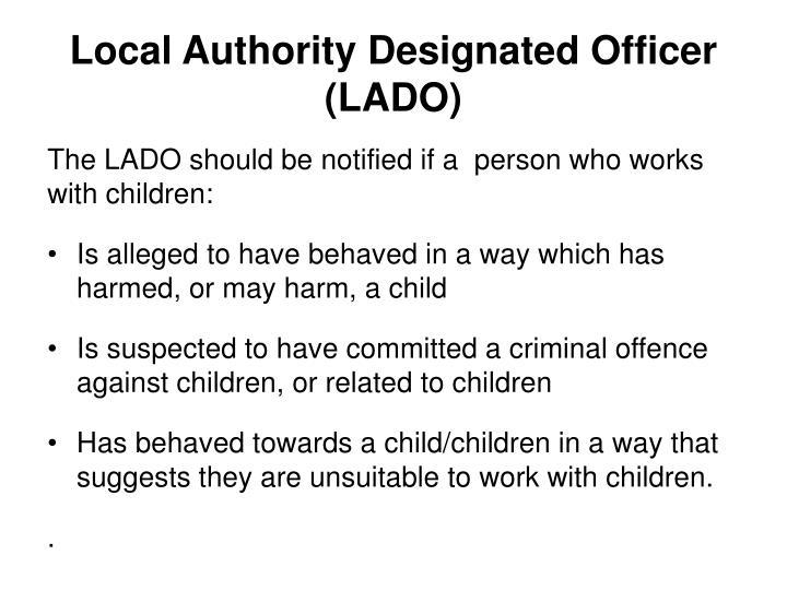 Local Authority Designated Officer (LADO)