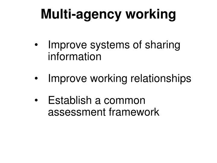 Multi-agency working