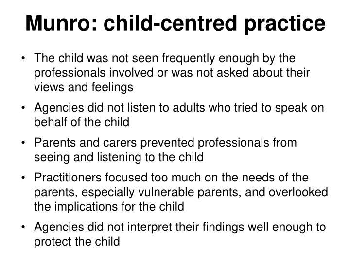 Munro: child-centred practice
