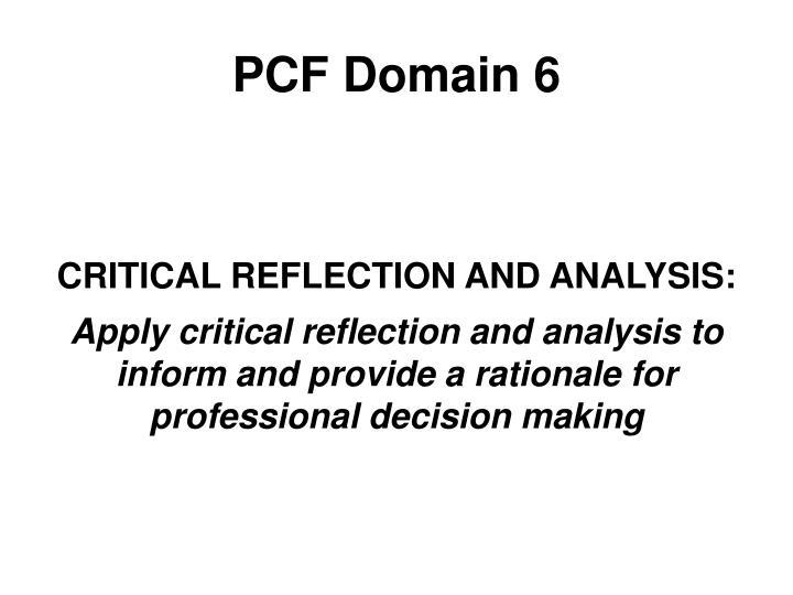PCF Domain 6