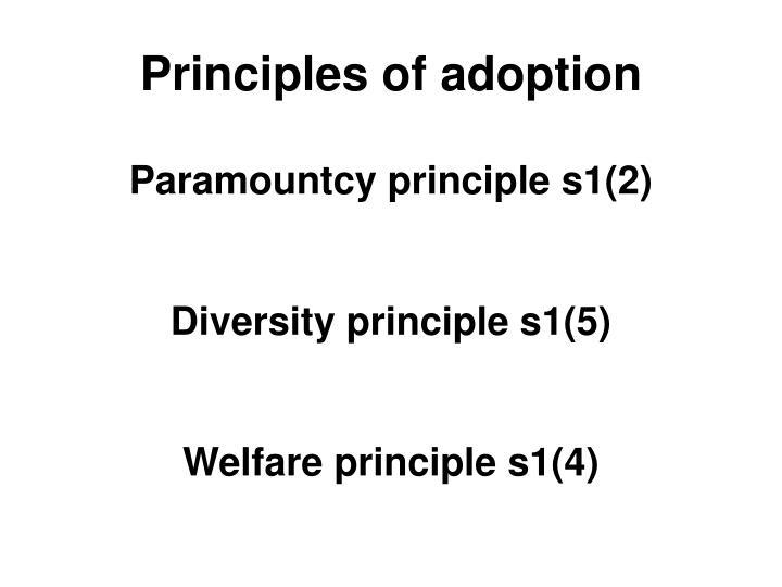 Principles of adoption
