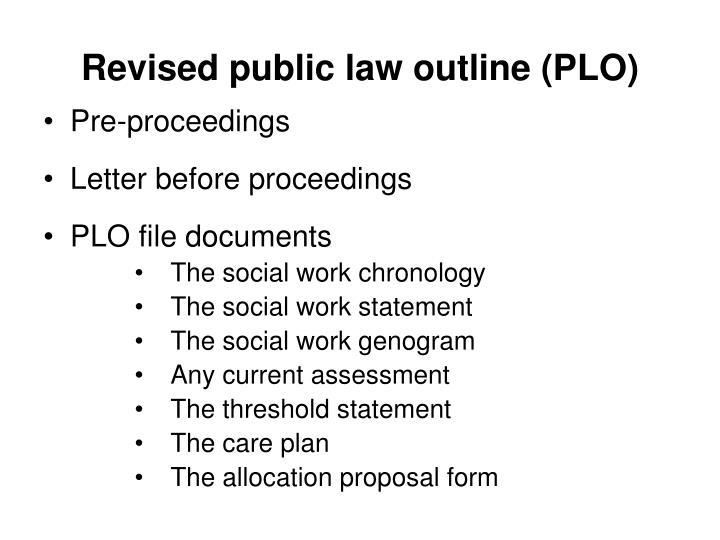 Revised public law outline (PLO)