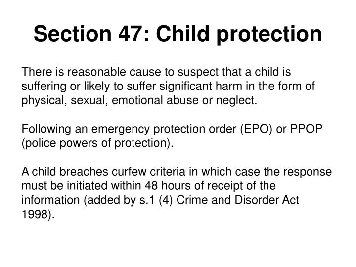 Section 47: Child protection