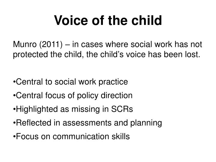 Voice of the child