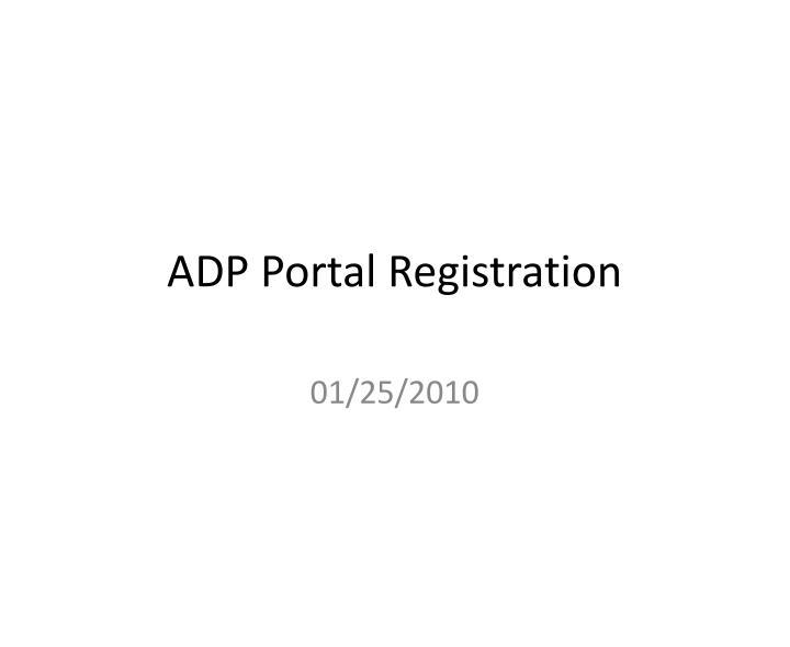adp portal registration n.