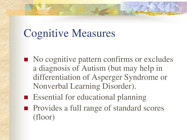 Cognitive Measures