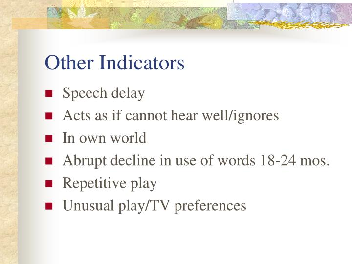 Other Indicators