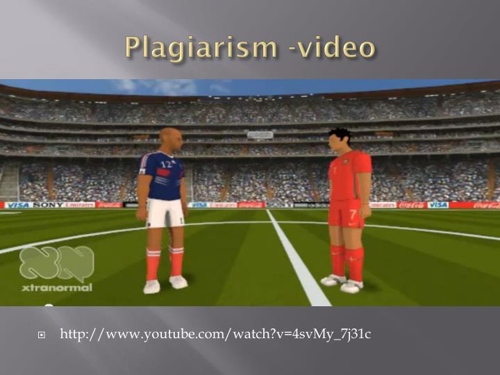 Plagiarism -video