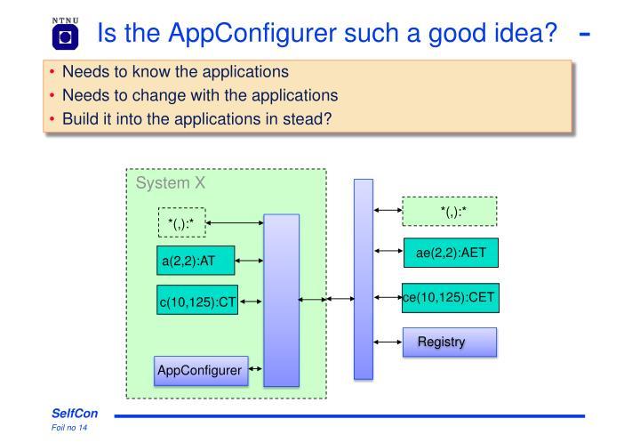 Is the AppConfigurer such a good idea?
