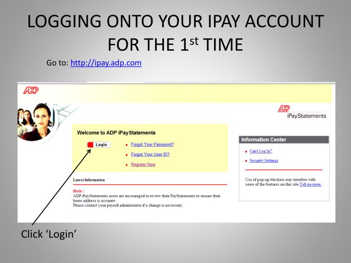 LOGGING ONTO YOUR IPAY ACCOUNT FOR THE 1