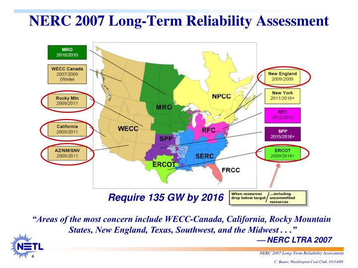 NERC 2007 Long-Term Reliability Assessment