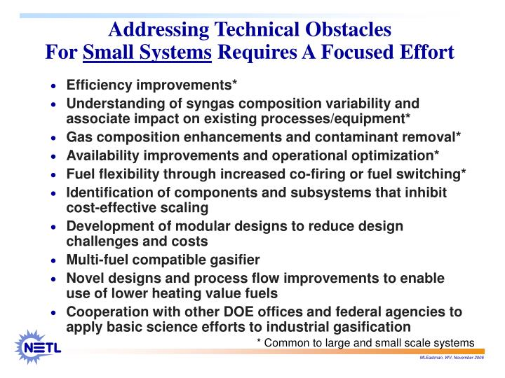 Addressing Technical Obstacles