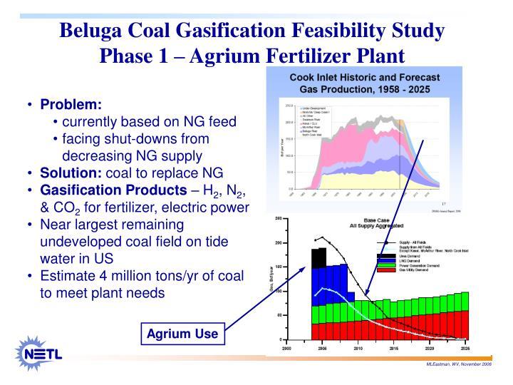 Beluga Coal Gasification Feasibility Study