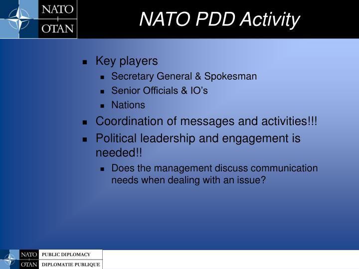 Nato pdd activity2