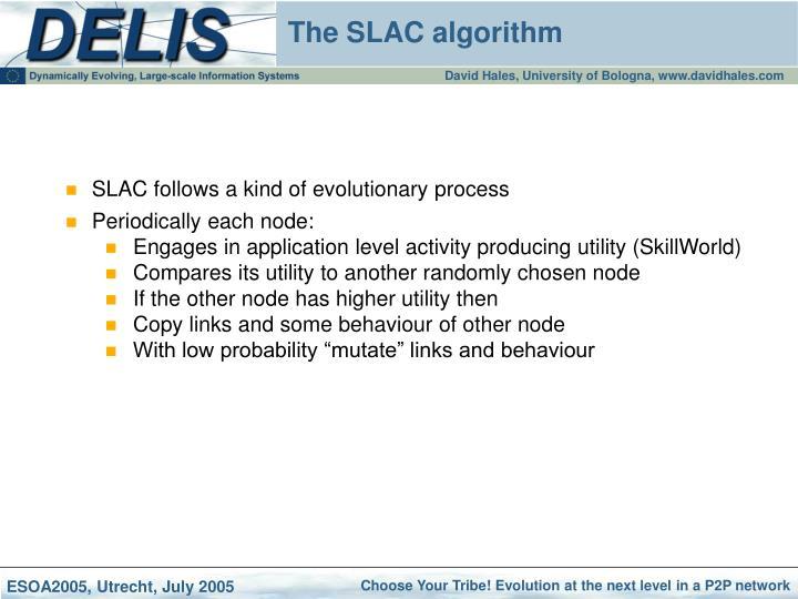 SLAC follows a kind of evolutionary process