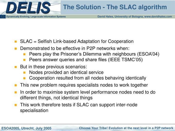 The solution the slac algorithm