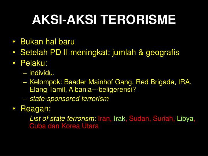 Aksi aksi terorisme
