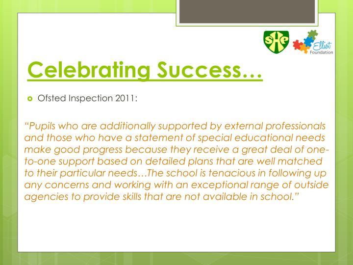 Celebrating Success…