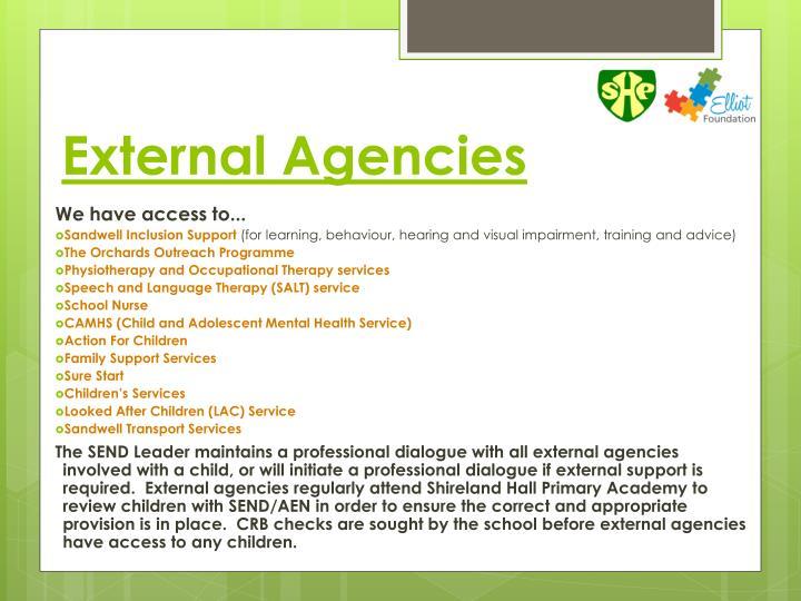 External Agencies