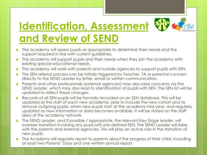 Identification, Assessment