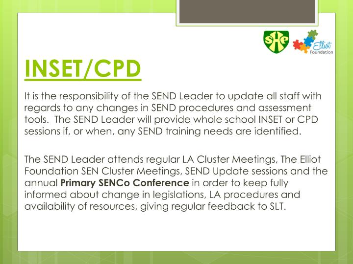 INSET/CPD