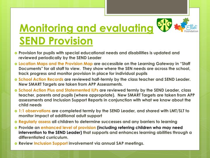 Monitoring and evaluating SEND Provision