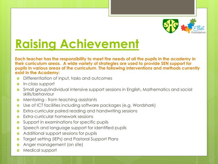 Raising Achievement