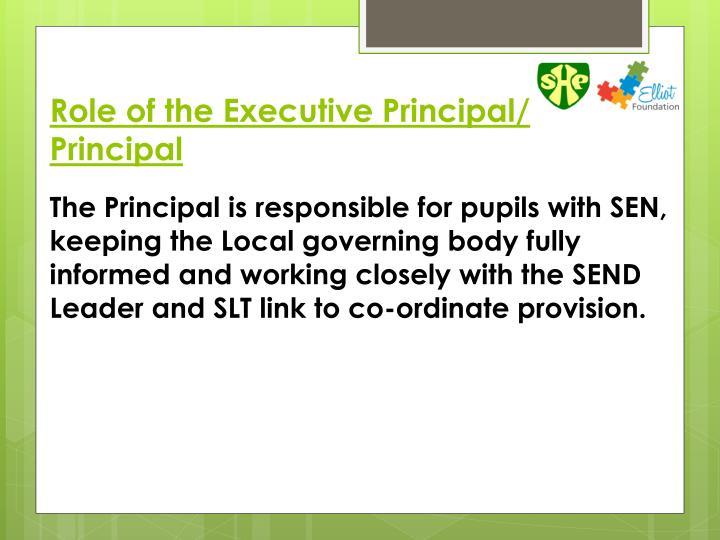 Role of the Executive Principal/ Principal