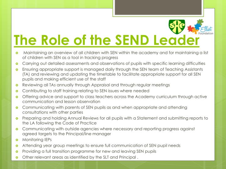 The Role of the SEND Leader