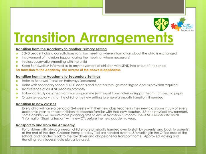 Transition Arrangements