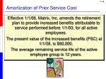 amortization of prior service cost3