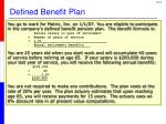 defined benefit plan1