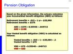 pension obligation