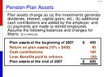 pension plan assets1