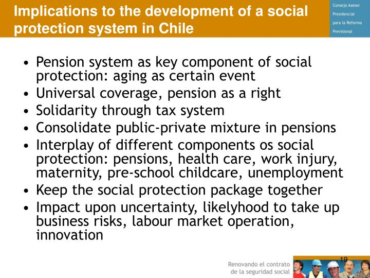 Implications to the development of a social protection system in Chile
