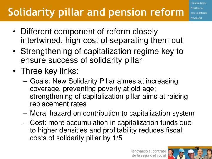 Solidarity pillar and pension reform