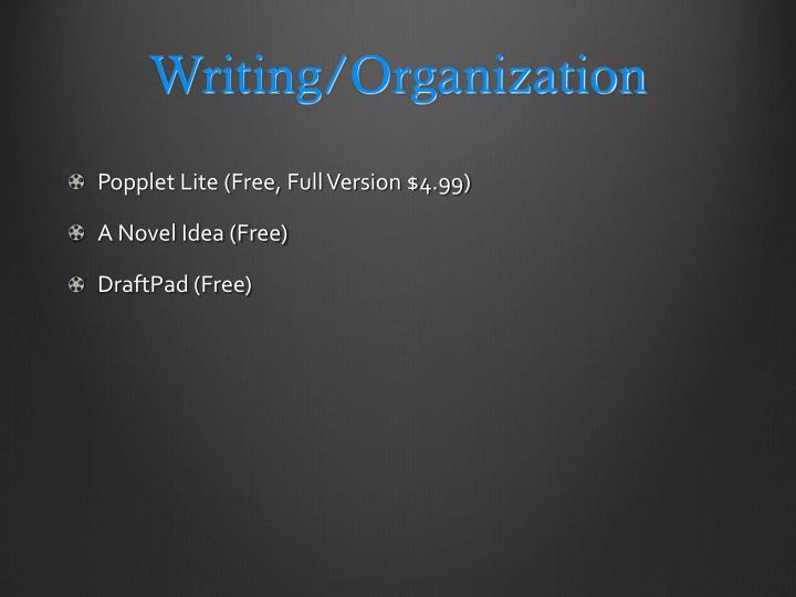 Writing/Organization