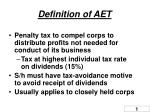definition of aet