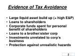 evidence of tax avoidance