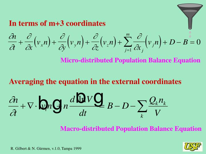 In terms of m+3 coordinates