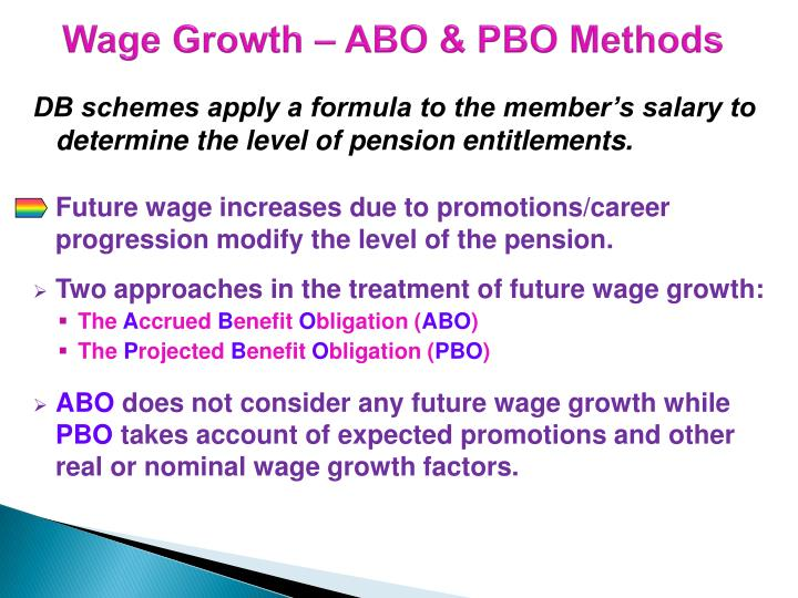 Wage growth abo pbo methods